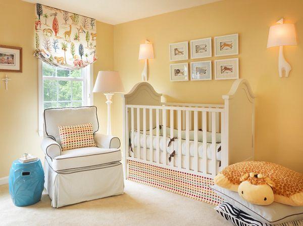 Цветные шторы в детской